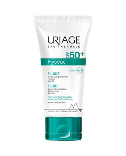 URIAGE HYSEAC Fluid przeciwsłoneczny do skóry trądzikowej SPF50 - 50 ml - cena, opinie, stosowanie - Drogeria Melissa
