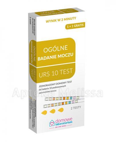 HYDREX URS 10 TEST Domowy test do ogólnego badania moczu - 2 szt. - Apteka internetowa Melissa
