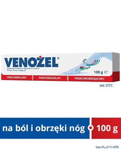 VENOŻEL Żel przeciwbólowy i przeciwobrzękowy - 100 g - cena, stosowanie, opinie