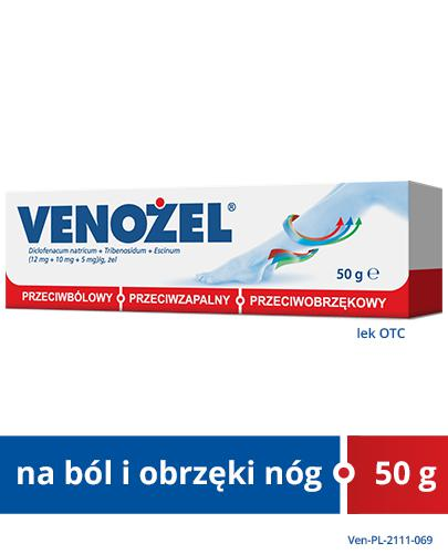 VENOŻEL Żel przeciwbólowy i przeciwobrzękowy - 50 g - Apteka internetowa Melissa
