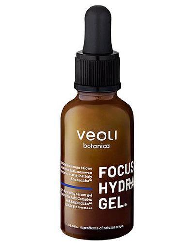 Veoli Botanica Focus Hydration Gel Ultra nawilżające serum żelowe z potrójnym kwasem hialuronowym i fermentem z czarnej herbaty Kombuchka - 30 ml - cena, opinie, stosowanie - Drogeria Melissa