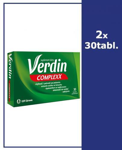 VERDIN COMPLEXX - 60 tabl. - dolegliwości trawienne - cena, opinie, wskazania
