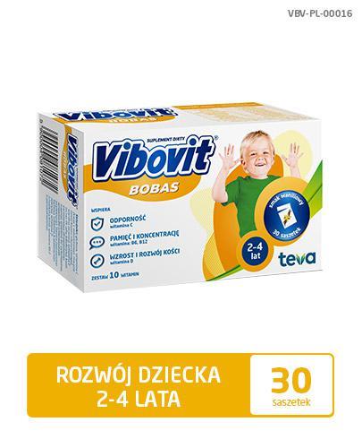 VIBOVIT BOBAS Waniliowy - 30 sasz. - Apteka internetowa Melissa