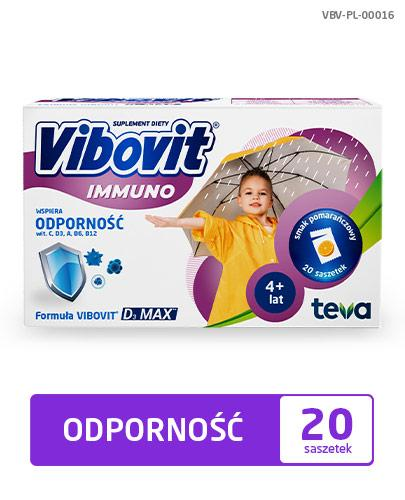VIBOVIT IMMUNO - 20 sasz. - na odporność - cena, dawkowanie, opinie