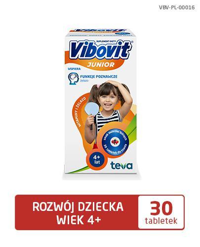 VIBOVIT JUNIOR Witaminy + Żelazo - 30 tabl. - Drogeria Melissa