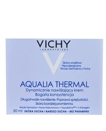 VICHY AQUALIA THERMAL Dynamicznie nawilżający krem dla skóry wrażliwej bogata konsystencja - 50 ml - Apteka internetowa Melissa