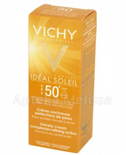 VICHY CAPITAL SOLEIL Aksamitny krem do twarzy SPF50  - 50 ml  - Apteka internetowa Melissa