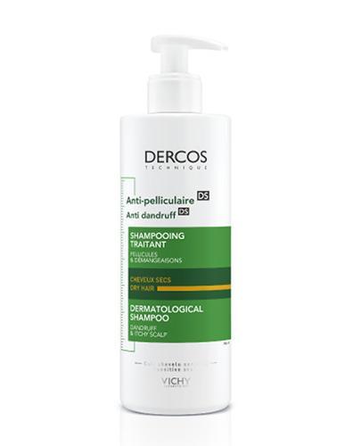 VICHY DERCOS Szampon przeciwłupieżowy włosy suche - 390 ml - cena, opinie, właściwości