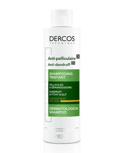 VICHY DERCOS Szampon przeciwłupieżowy włosy suche - 200 ml - cena, opinie, właściwości - Drogeria Melissa