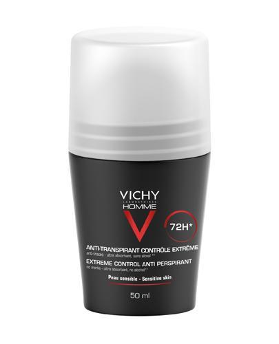 VICHY HOMME Antyperspirant w kulce 72 godzinna ochrona przed poceniem - 50 ml - cena, opinie, właściwości - Drogeria Melissa