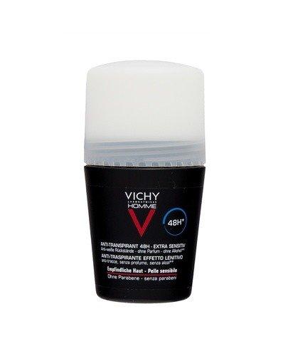VICHY HOMME Antyperspirant w kulce do skóry wrażliwej dla mężczyzn - 50 ml (vichy kulka) - Apteka internetowa Melissa