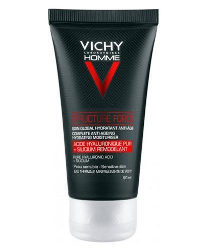 Vichy Homme Structure Force Przeciwzmarszczkowy krem wzmacniający - 50 ml - cena, opinie, właściwości  - Apteka internetowa Melissa