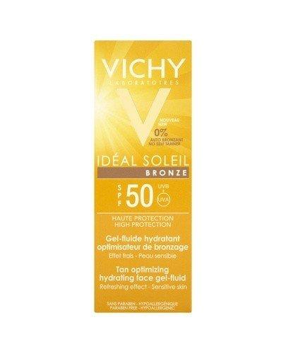 VICHY CAPITAL IDEAL SOLEIL BRONZE Żel-fluid do twarzy optymalizujący opaleniznę SPF50 - 50 ml - Apteka internetowa Melissa
