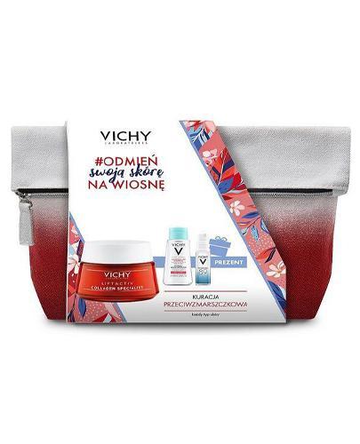Vichy Liftactiv Collagen Specialist Przeciwzmarszczkowy krem na dzień - 50 ml + Mineral 89 Booster - 10 ml + Purete Thermale Mineralny płyn micelarny - 100 ml - cena, wskazania, właściwości