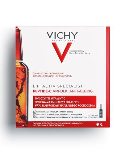 Vichy Liftactiv Specialist PEPTIDE-C Ampułki anti-ageing - 10 ampułek. Kuracja przeciwstarzeniowa - cena, opinie, stosowanie - Drogeria Melissa