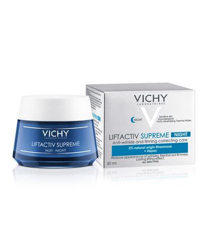 VICHY LIFTACTIV SUPREME NOC Kompleksowa przeciwzmarszczkowa pielęgnacja ujędrniająca na noc - 50 ml - cena, opinie, właściwości