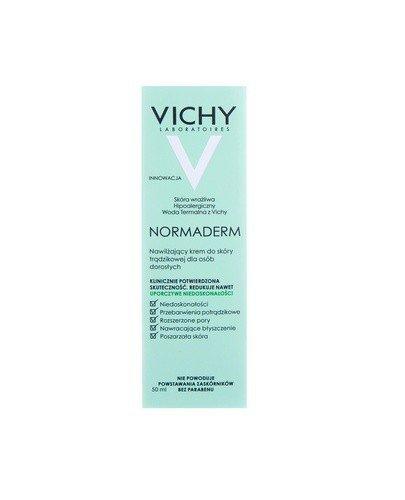 VICHY NORMADERM Krem nawilżający do skóry trądzikowej - 50 ml - dla osób dorosłych - cena, opinie, właściwości