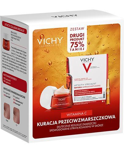Vichy Witamina C Kuracja Przeciwzmarszczkowa Krem na dzień + Ampułki Anti-Ageing - 50 ml + 10 x 1,8 ml - cena, opinie, działanie - Drogeria Melissa