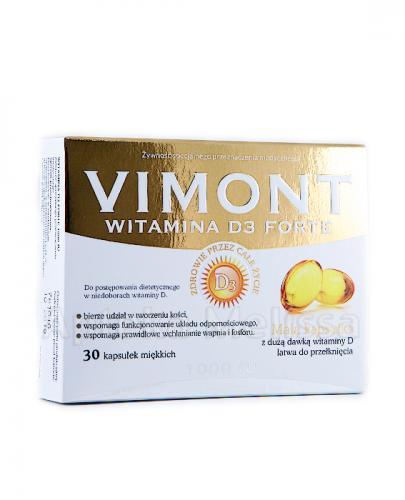 VIMONT WITAMINA D3 FORTE 1000 IU - 30 kaps. - Apteka internetowa Melissa