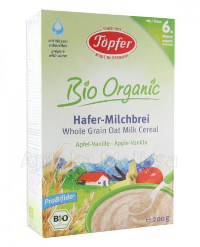 TOPFER BIO ORGANIC Kaszka mleczna owsiana pełnoziarnista jabłkowo-waniliowa dla dzieci po 6 miesiącu - 200 g - Apteka internetowa Melissa