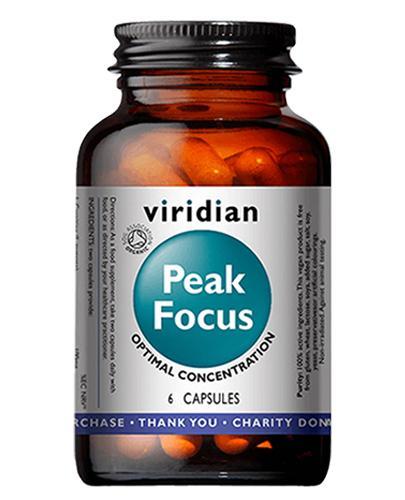 Viridian Organic Peak Focus - 6 kaps.- cena, opinie, stosowanie - Apteka internetowa Melissa