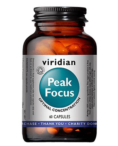 Viridian Organic Peak Focus - 60 kaps.- cena, opinie, właściwości