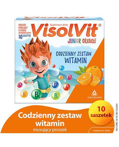 VISOLVIT JUNIOR Orange - 10 sasz. Data ważności 2021.05.31 - Apteka internetowa Melissa