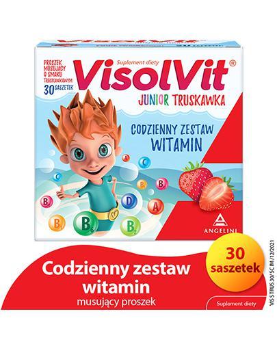 VISOLVIT JUNIOR Smak truskawkowy - 30 sasz.