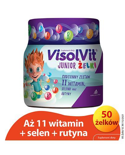 VISOLVIT JUNIOR Żelki o smaku owocowym - 250 g