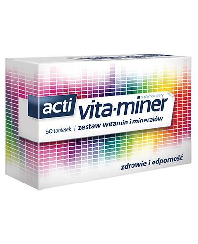 VITA-MINER Komplet niezbędnych witamin i minerałów - 60 tabl.  - Drogeria Melissa