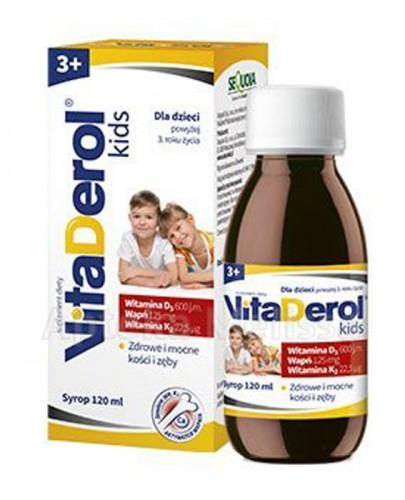 VITADEROL KIDS 3+ syrop o smaku truskawkowym - 120 ml - Apteka internetowa Melissa