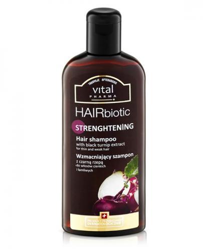 VITAL PHARMA+ HAIRBIOTIC Wzmacniający szampon z czarną rzepą - 250 ml - Apteka internetowa Melissa