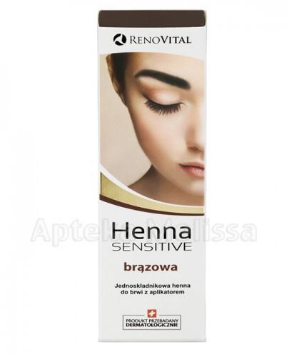 RENO VITAL HENNA SENSITIVE Jednoskładnikowa henna do brwi z aplikatorem brązowa - 6 ml - Apteka internetowa Melissa