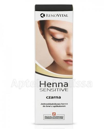 RENO VITAL HENNA SENSITIVE Jednoskładnikowa henna do brwi z aplikatorem czarna - 6 ml - Apteka internetowa Melissa