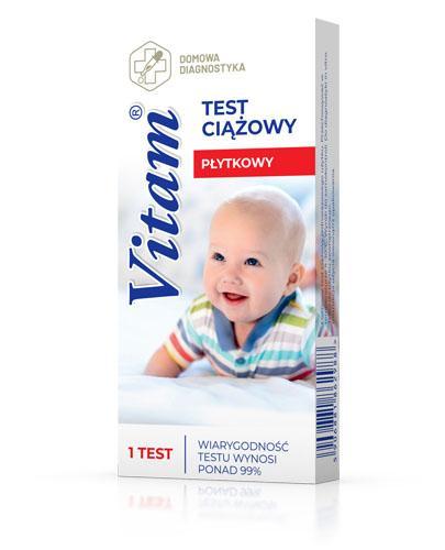 VITAM Test ciążowy płytkowy - 1 szt. Data ważności 2021.05.31 - Apteka internetowa Melissa