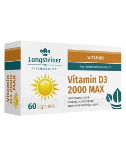 LANGSTEINER Vitamin D3 2000 max - 60 kaps. - Apteka internetowa Melissa