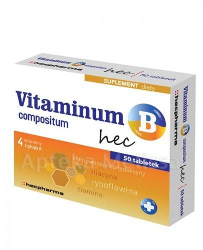 VITAMINUM B COMPOSITUM HEC - 50 tabl.  - Apteka internetowa Melissa