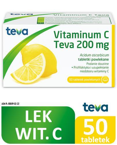 VITAMINUM C TEVA 200 mg - 50 tabl. - Apteka internetowa Melissa
