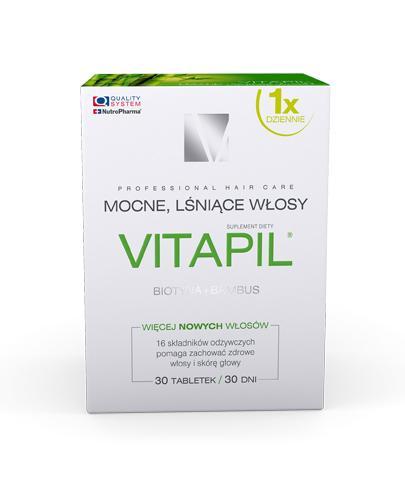 VITAPIL z biotyną + bambus - 30 tabl. - kondycja skóry głowy i włosów - cena, opinie, właściwości