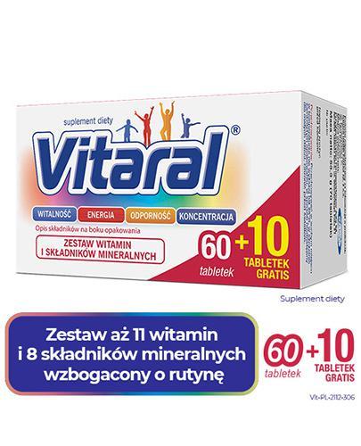 Vitaral - 60 tabl. + 10 tabl. - cena, opinie, wskazania