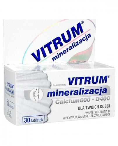 VITRUM MINERALIZACJA (Calcium) 600 + D400 - 30 tabl. - Apteka internetowa Melissa