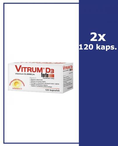 VITRUM D3 FORTE - 2 x 120 kaps. - Apteka internetowa Melissa