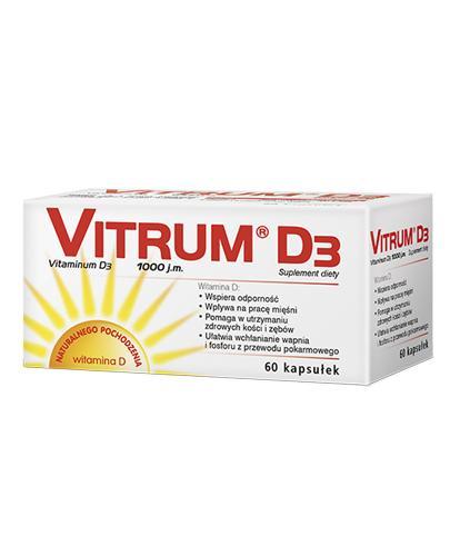 VITRUM D3 Kapsułki żelatynowe - 60 kaps. - cena, opinie, dawkowanie