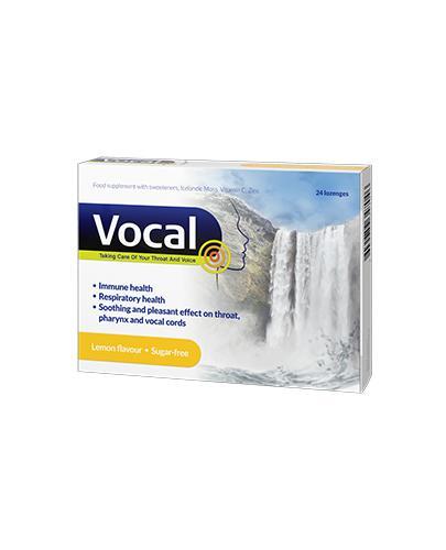 Vocal o smaku cytrynowym - 24 past. przy chrypce i podrażnieniu gardła - cena, opinie, właściwości - Apteka internetowa Melissa