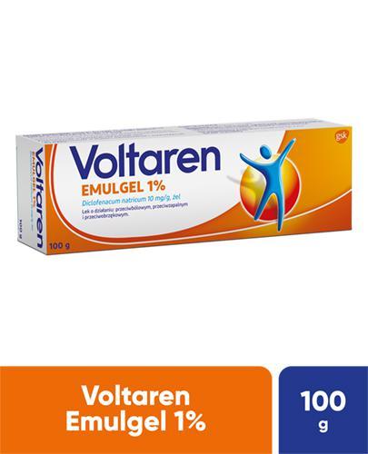 VOLTAREN EMULGEL 1% Lek przeciwbólowy i przeciwzapalny - żel 100 g - Apteka internetowa Melissa