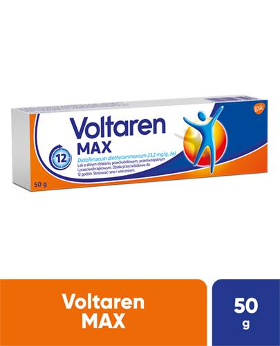 VOLTAREN MAX Lek przeciwbólowy i przeciwzapalny - żel 50 g - Apteka internetowa Melissa