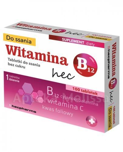 Witamina B12 HEC tabl. 100tabl.(4blist.po2