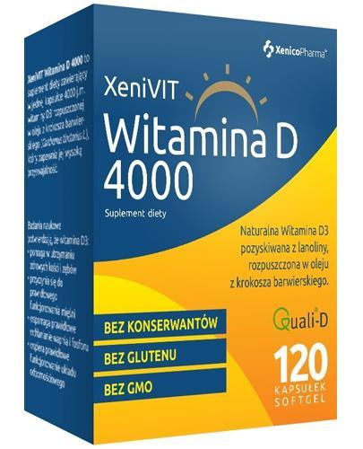 XENIVIT WITAMINA D 4000 j.m.  - 120 kaps. - na zdrowe kości i zęby - cena, dawkowanie, opinie  - Apteka internetowa Melissa