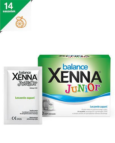 XENNA BALANCE JUNIOR - 14 sasz. - saszetki na zaparcia - cena, opinie, wskazania