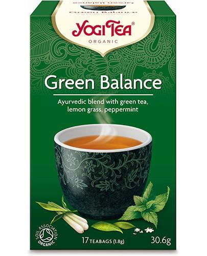 Yogi Tea Organic GREEN BALANCE Zielona harmonia BIO - 17 sasz. - cena, opinie, stosowanie - Drogeria Melissa